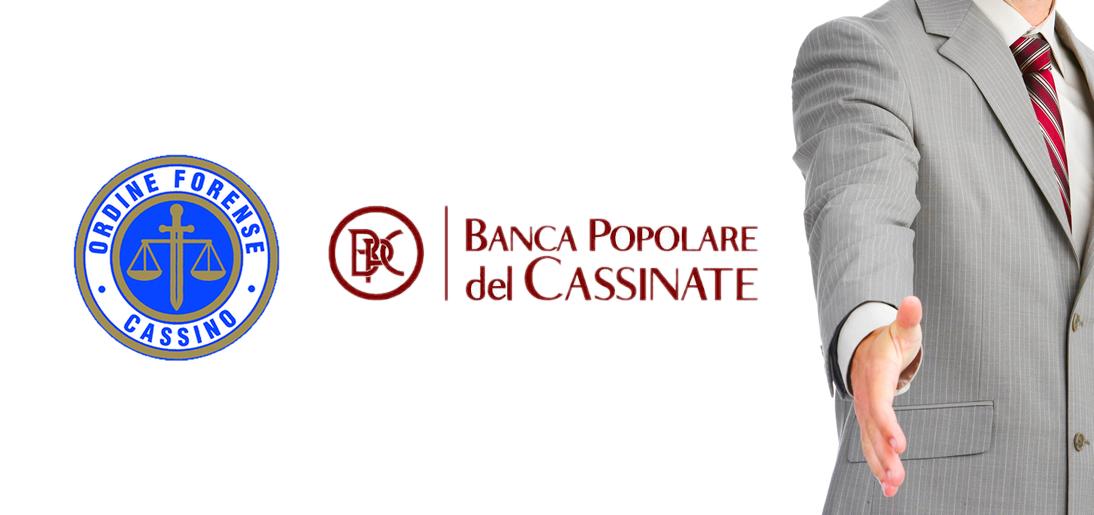 convenzione anticipazione parcelle gratuito patrocinio On banca popolare del cassinate